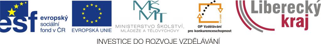 logo OPVK ESF Liberecký kraj_barevné